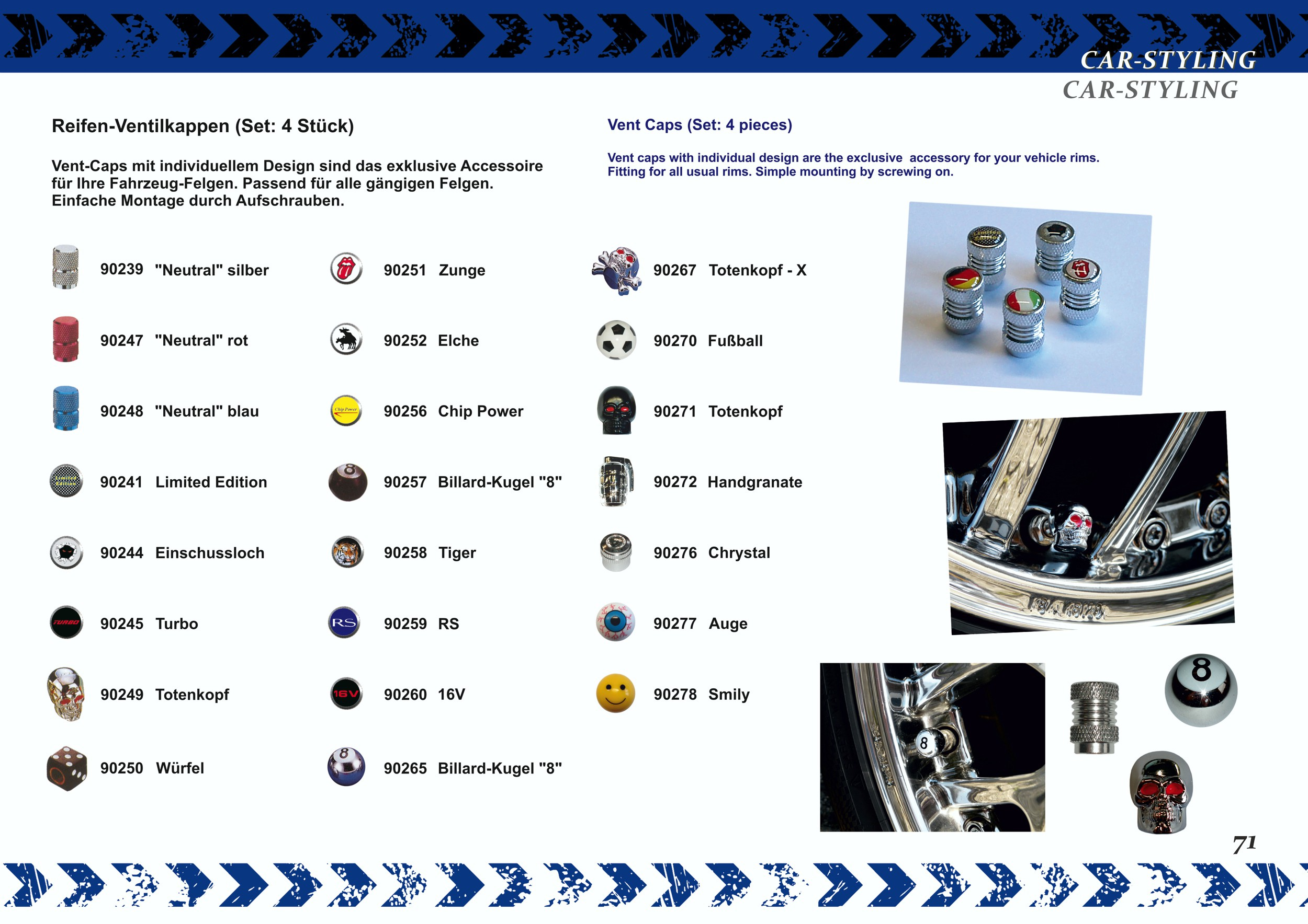 Ventilkappen Vent-Cap Neutral blau 4er-Set – Bild 5