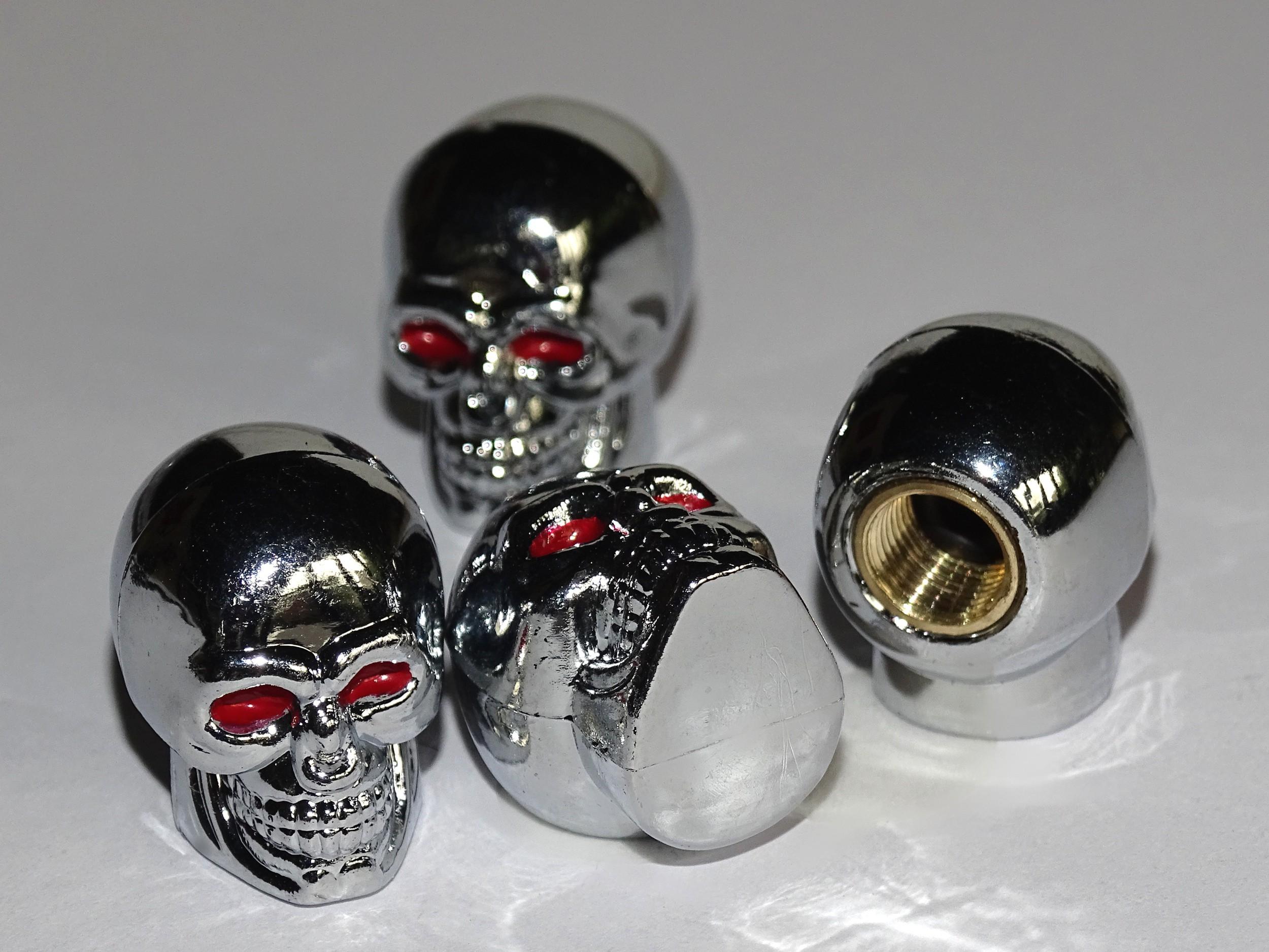 Vent-Caps Skull set: 4 pieces – Bild 1