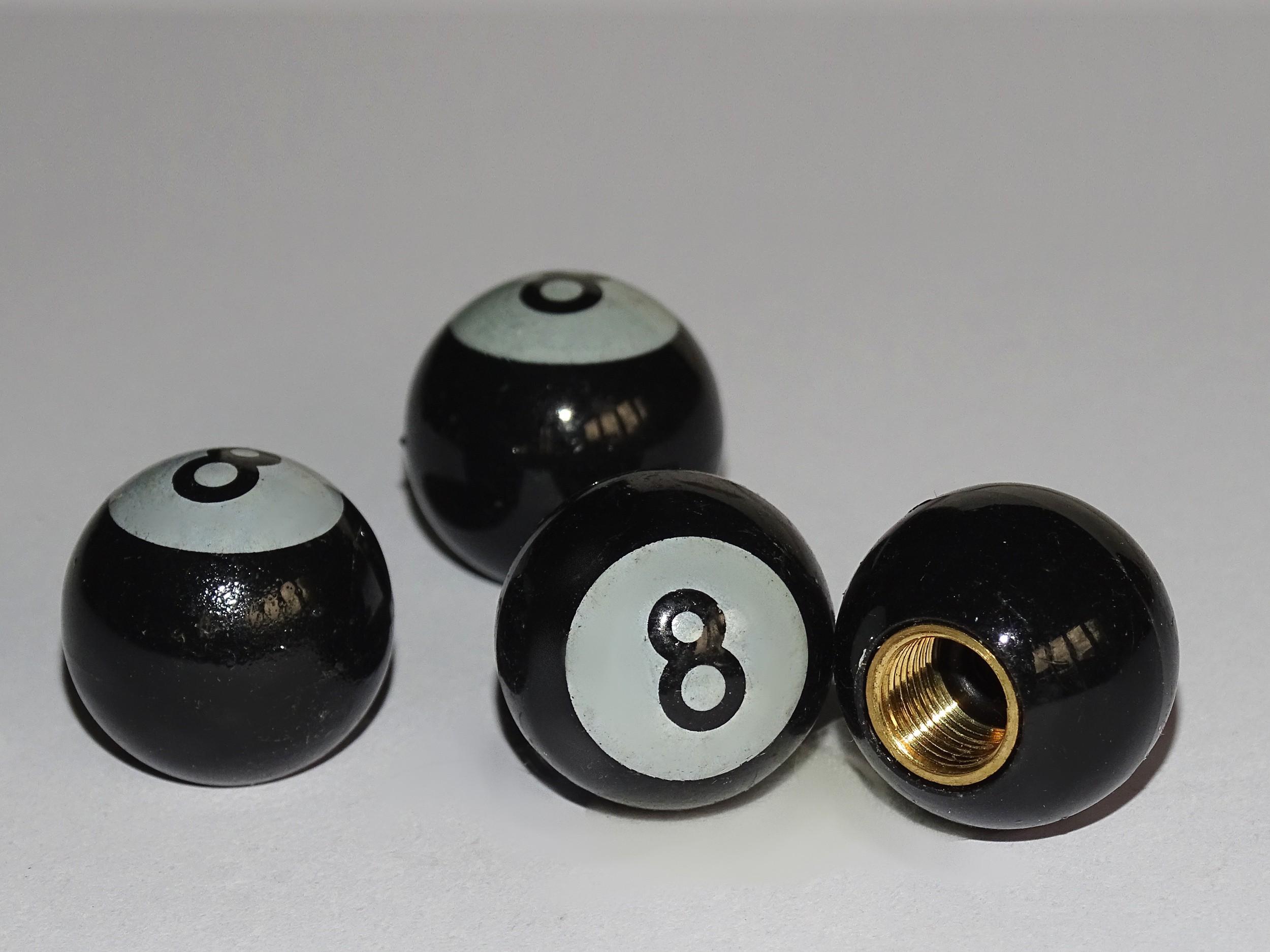 Ventilkappen Vent-Cap Billard-Kugel 8 4er-Set – Bild 1