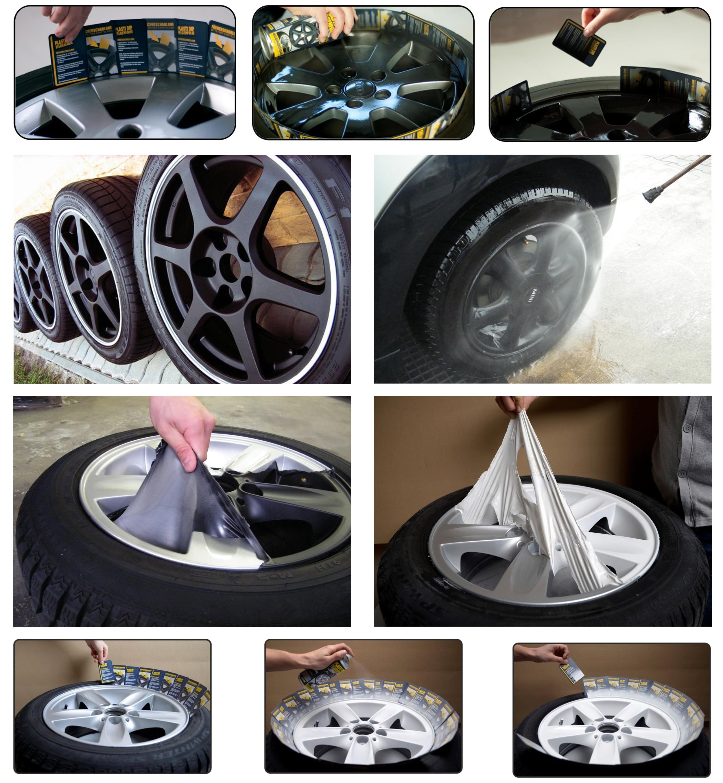 Mibenco liquid film flat black (consisting of 4 tins 400ml each tin) ...also for car body – Bild 2