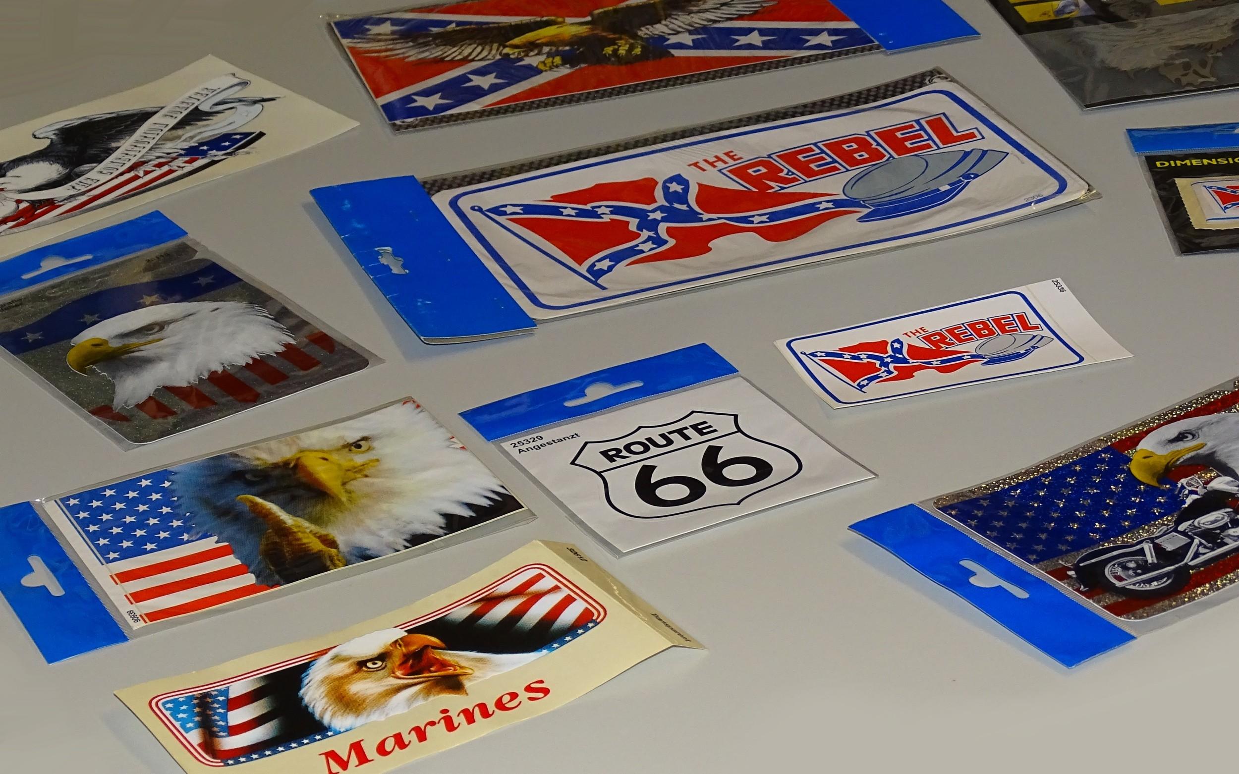 Aufkleber US-Flagge Holografie 150 x 110 mm – Bild 4