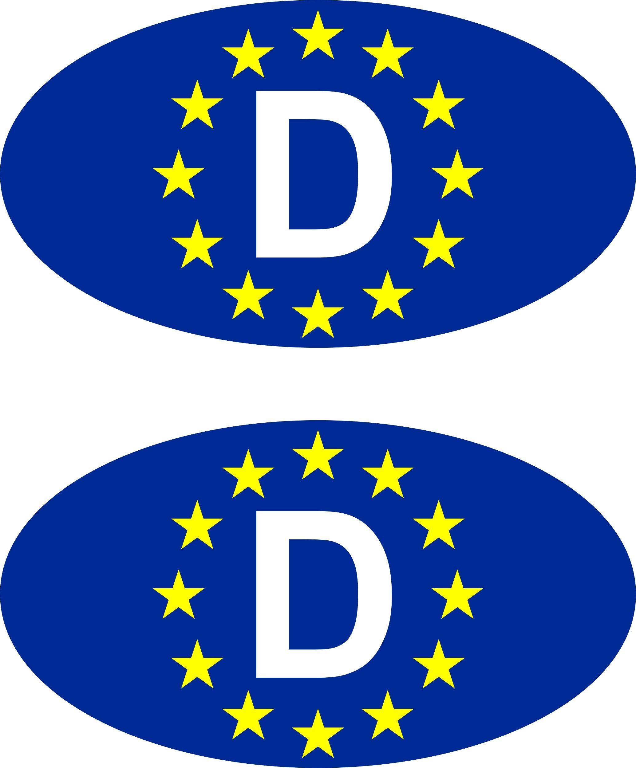 Aufkleber Europa-D Holografie 2er-Set je 55 x 30 mm Deutschland Fanartikel Olympia – Bild 1