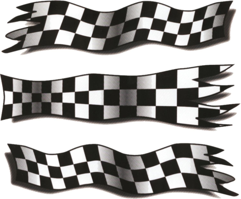 Aufkleber Styling-Flag 210 x 150 mm schwarz/weiss – Bild 1
