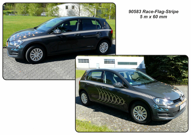 Sticker Race-Stripe Arrow 5 m x 60 mm – Bild 6