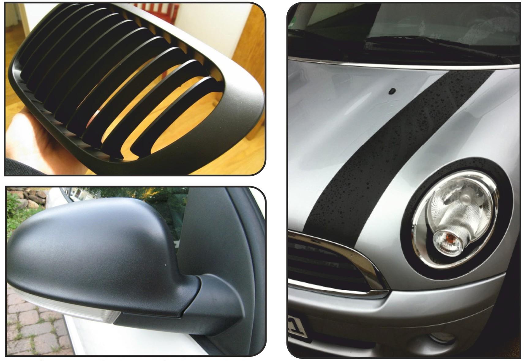 Mibenco liquid film flat black (consisting of one tin 400ml) ...also for car body – Bild 4