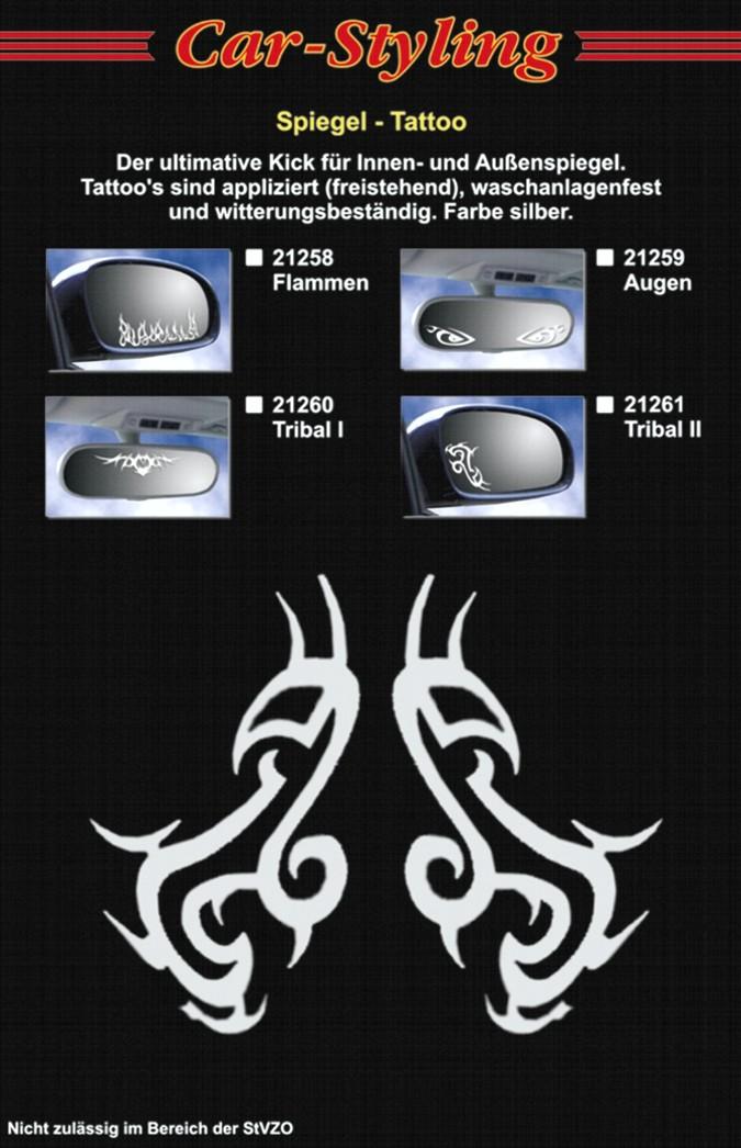 Aufkleber Spiegel- und Car-Tattoo Tribal II – Bild 2