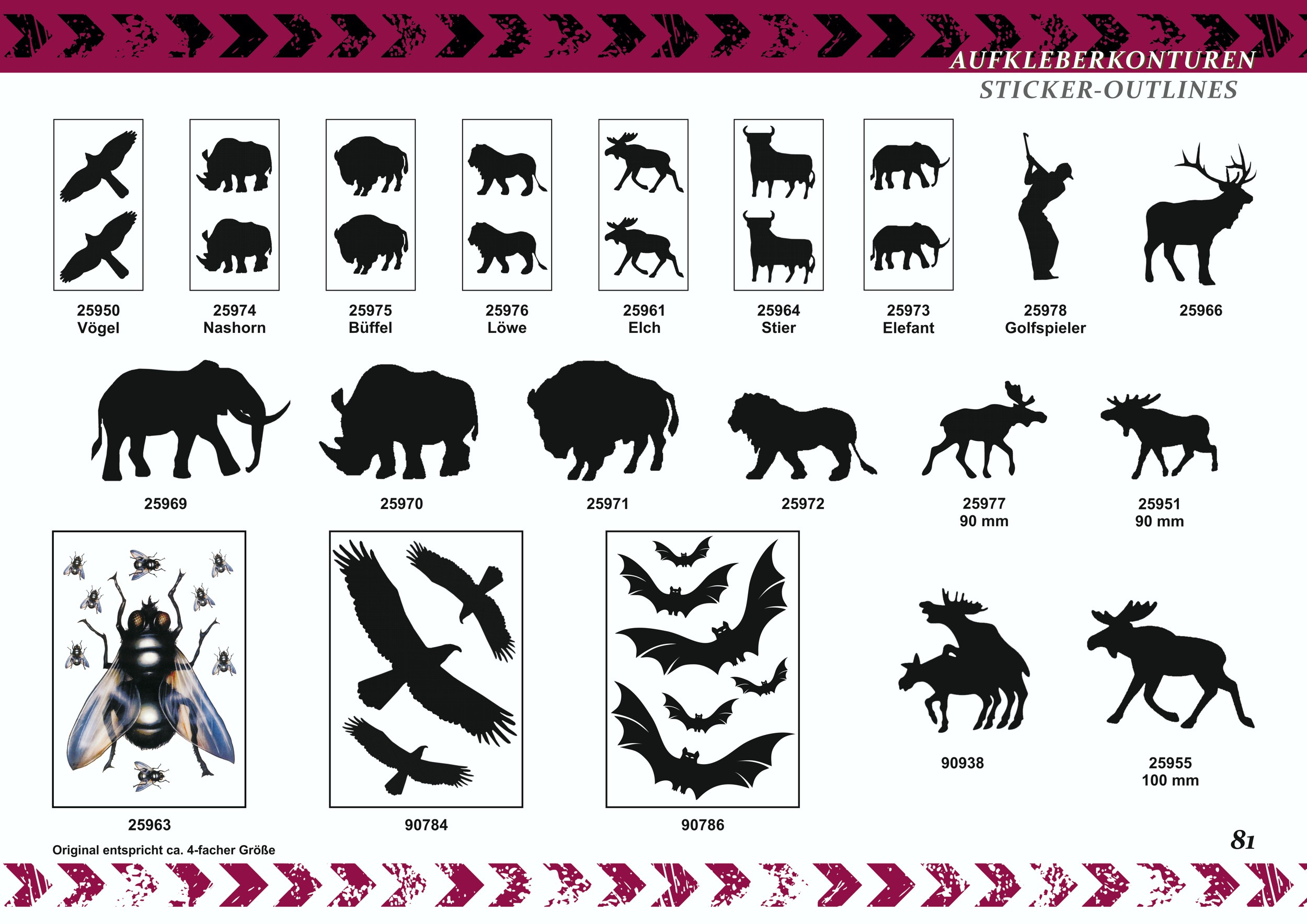 Sticker Outline assortment of bats 6 pcs – Bild 3