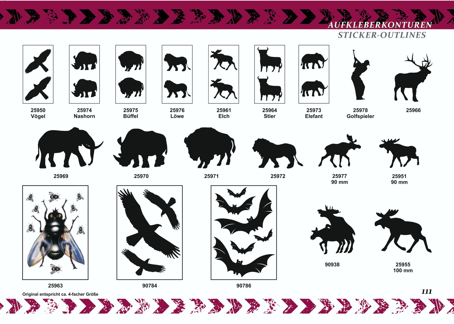 Afterglow sticker moose set of 2 – Bild 3
