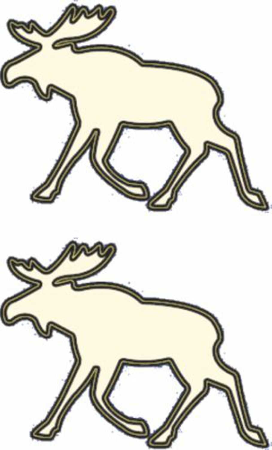 Afterglow sticker moose set of 2 – Bild 1