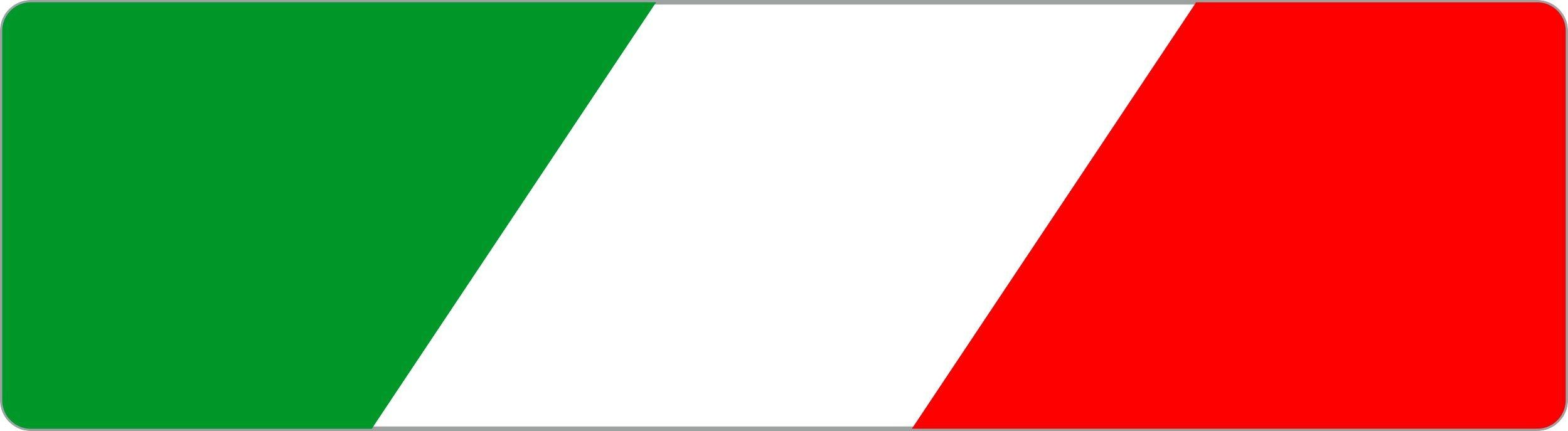 Aufkleber Italien Flagge Dimension 15 x 55 mm  – Bild 1