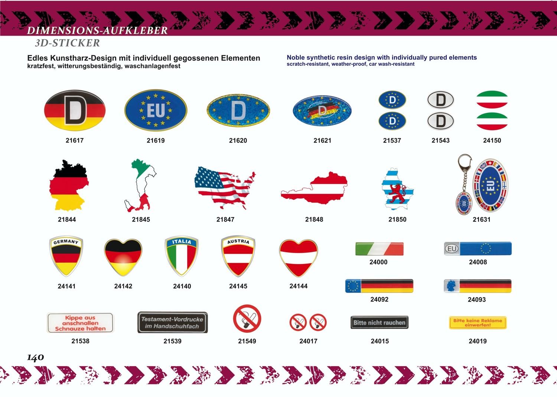 Aufkleber Italien Flagge Dimension 15 x 55 mm Deutschland Fanartikel Olympia – Bild 3