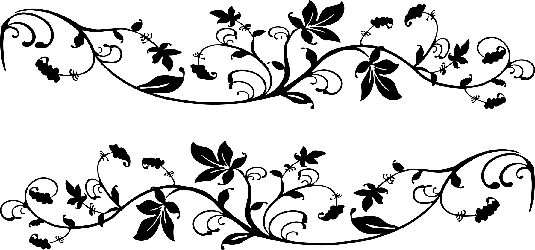 Discount action! Sticker tendril-decor 980 x 200 mm 001