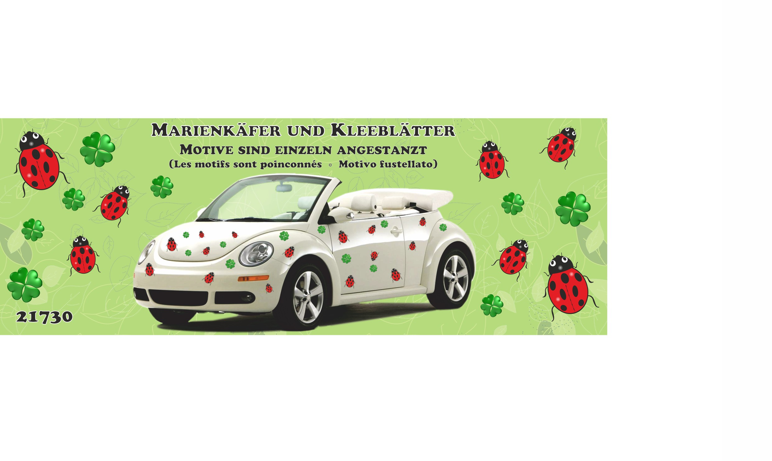 Sticker beetle and clover  300 x 200 mm – Bild 3