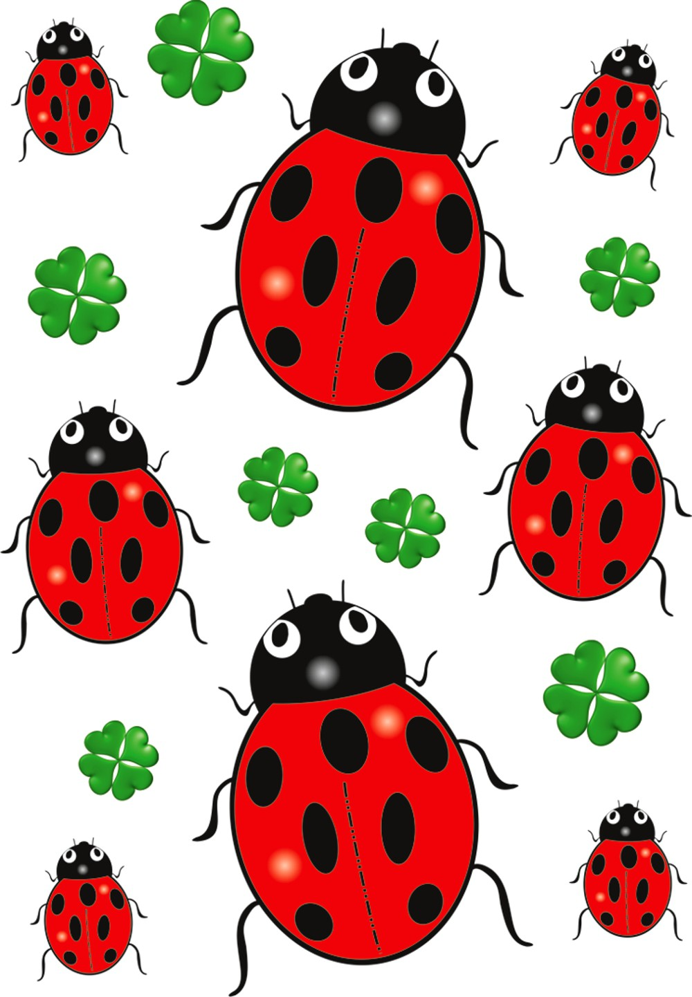 Sticker beetle and clover  300 x 200 mm