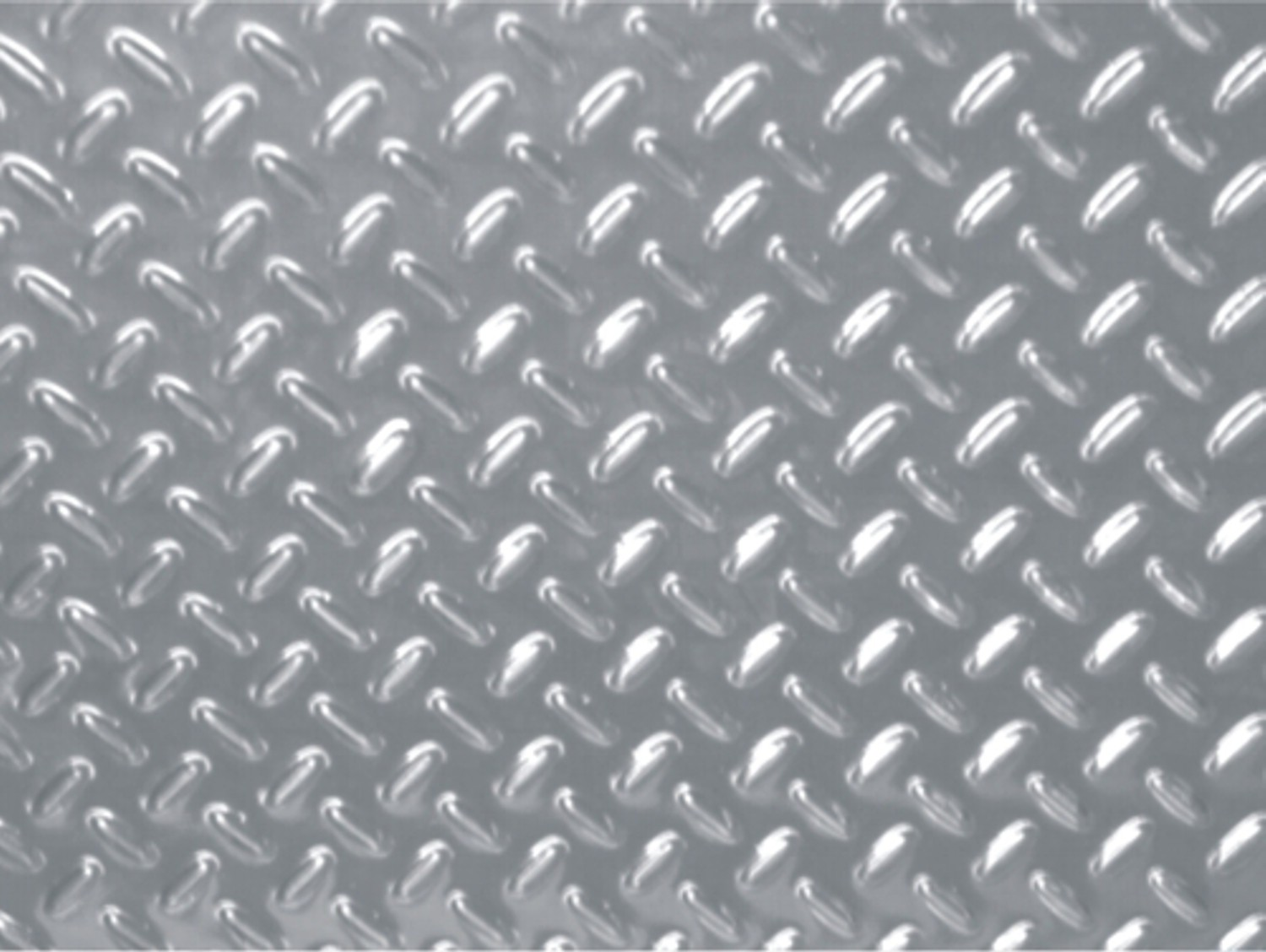 Aluminium-optics-floor mat double dagger metal 1100 x 650 mm – Bild 1