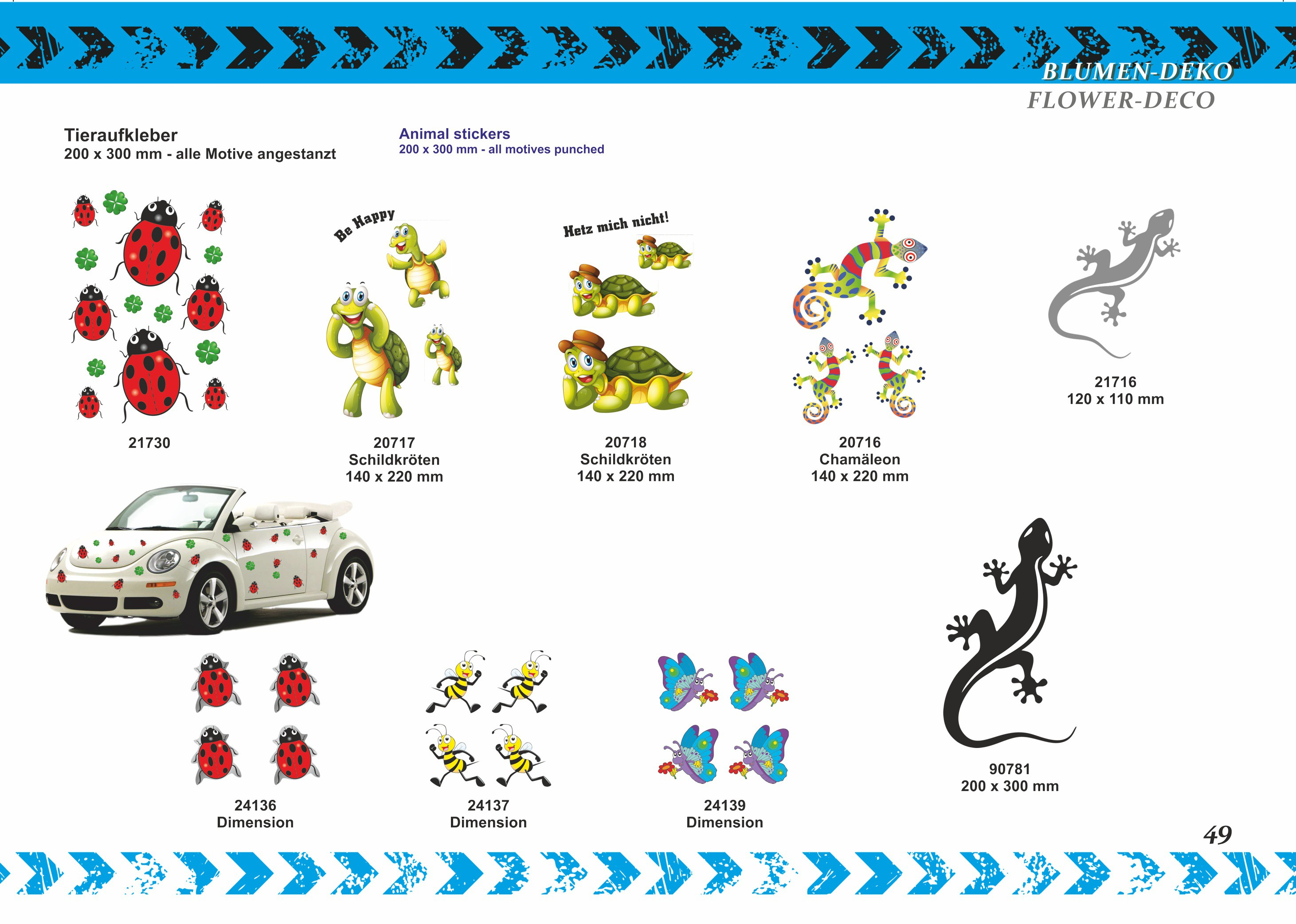 Sticker Butterflies and Flowers 300 x 200 mm – Bild 7