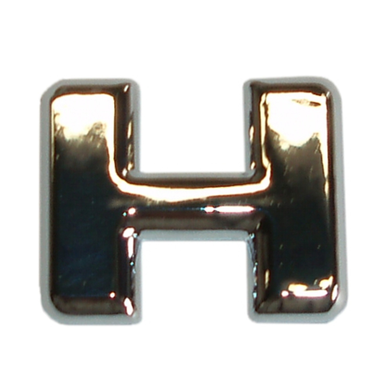 3D lettre en relief chrome H