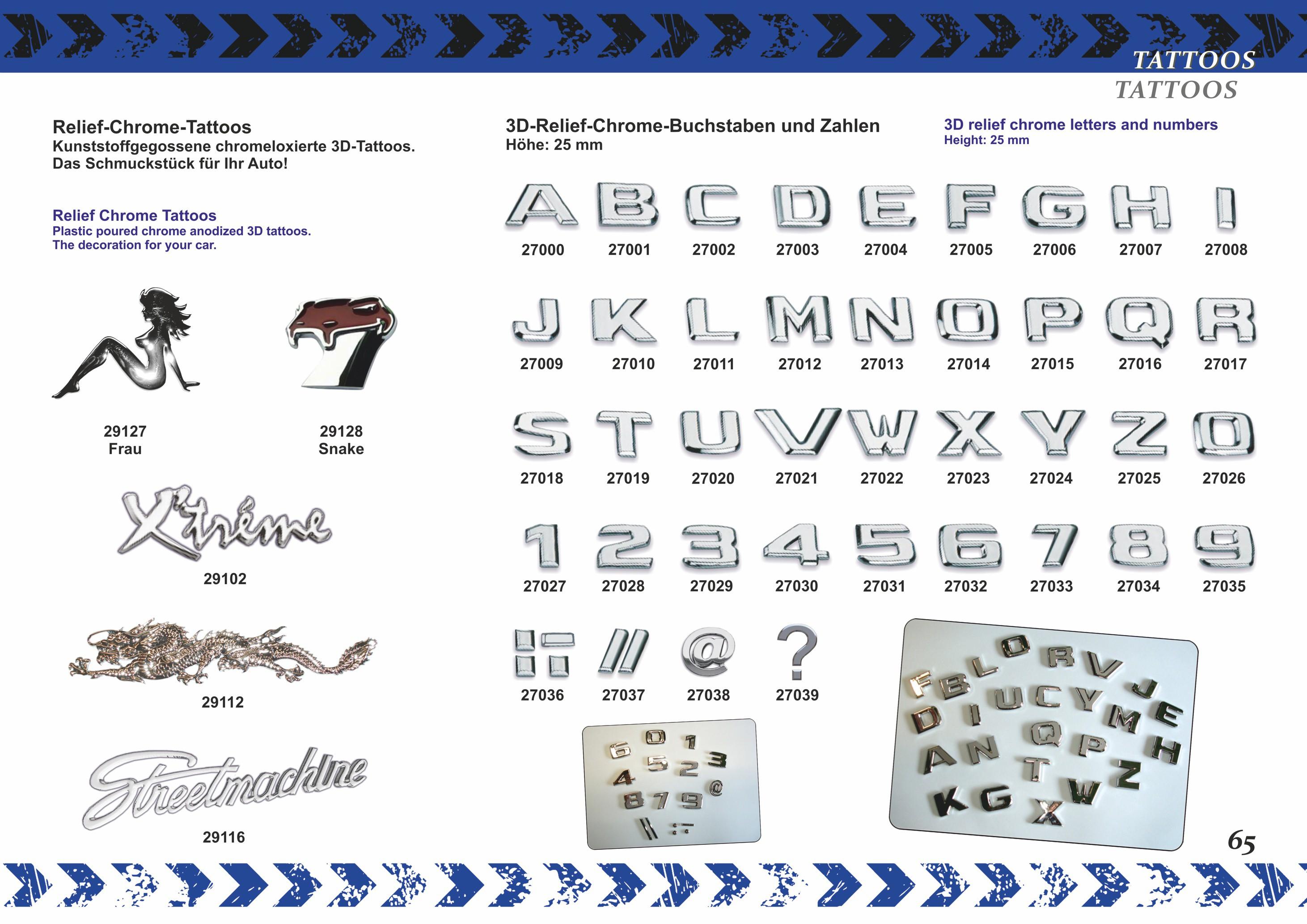 3D-relief-chrome-letter D – Bild 5