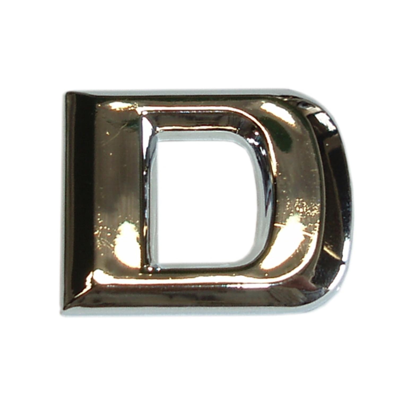 3D-Relief-Chrome-Buchstabe D – Bild 1