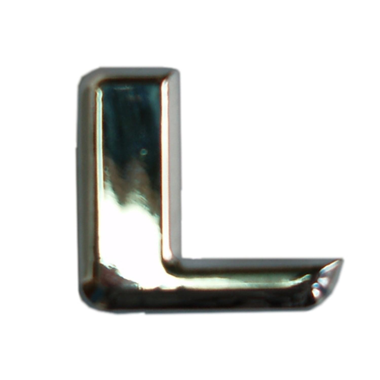 3D-Relief-Chrome-Buchstabe L
