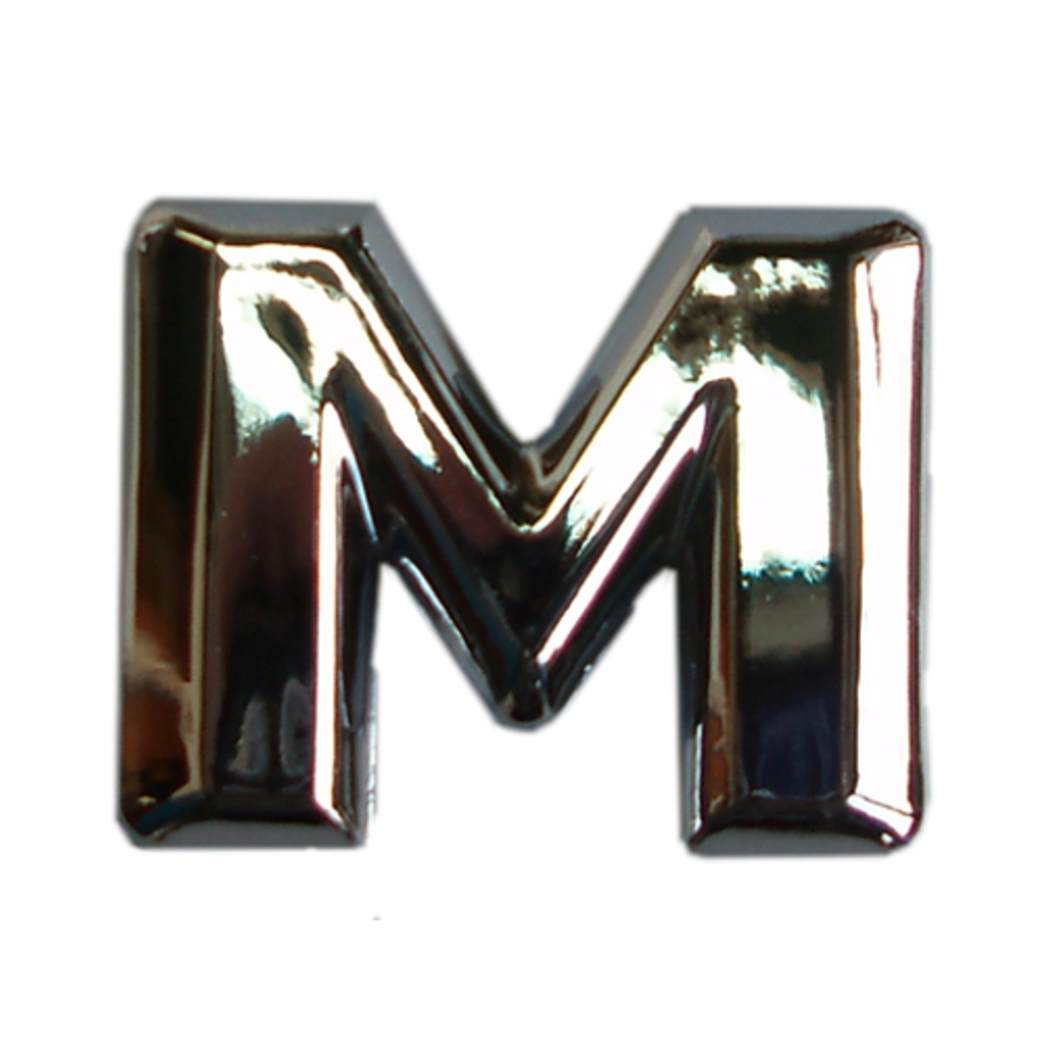 3D lettre en relief chrome M