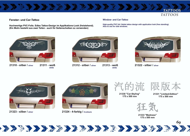 Tatou vitre et voiture argent set de 2 droite/gauche chaque 190 x 420 mm – Bild 5