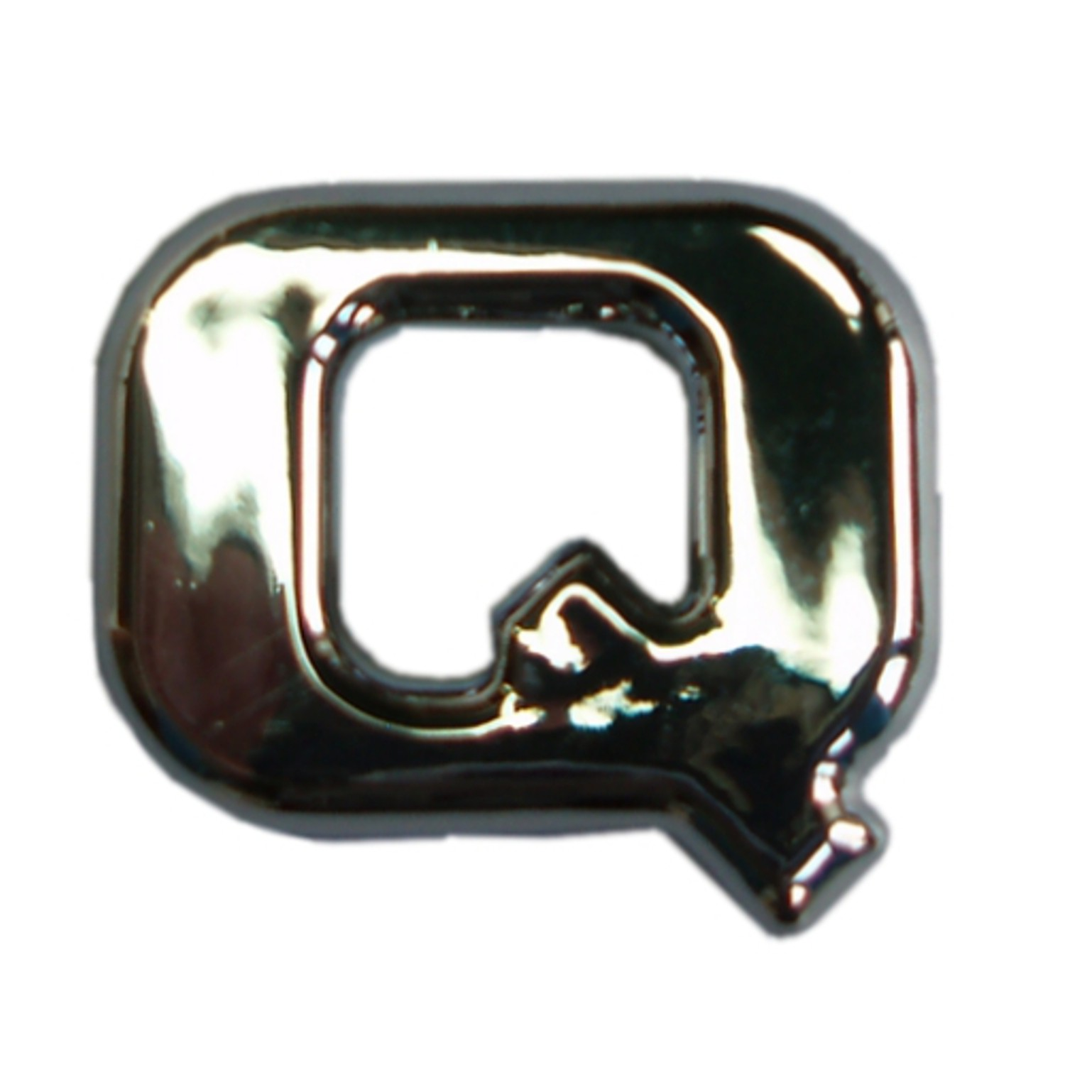 3D-Relief-Chrome-Buchstabe Q