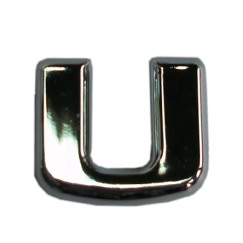 3D-relief-chrome-letter U – Bild 1
