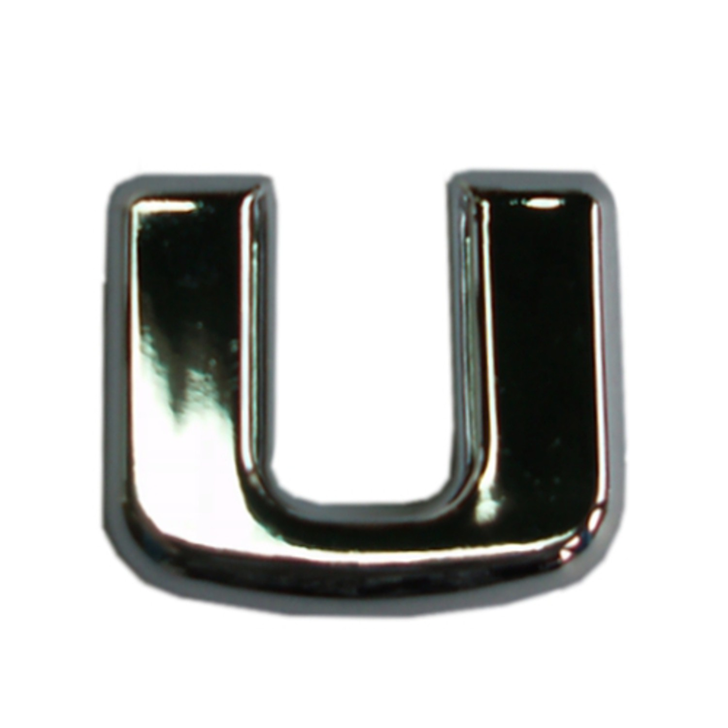 3D-Relief-Chrome-Buchstabe U