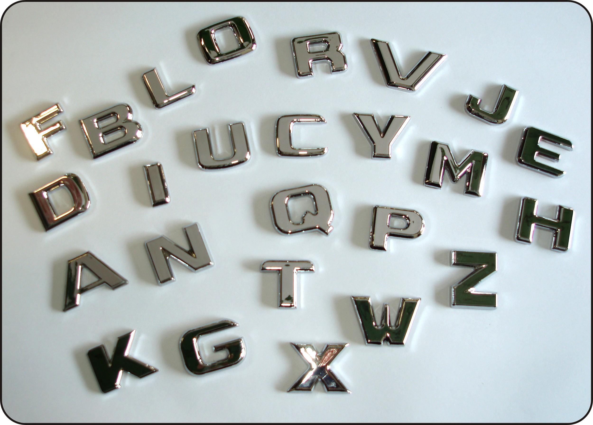 3D-relief-chrome-letter W – Bild 2