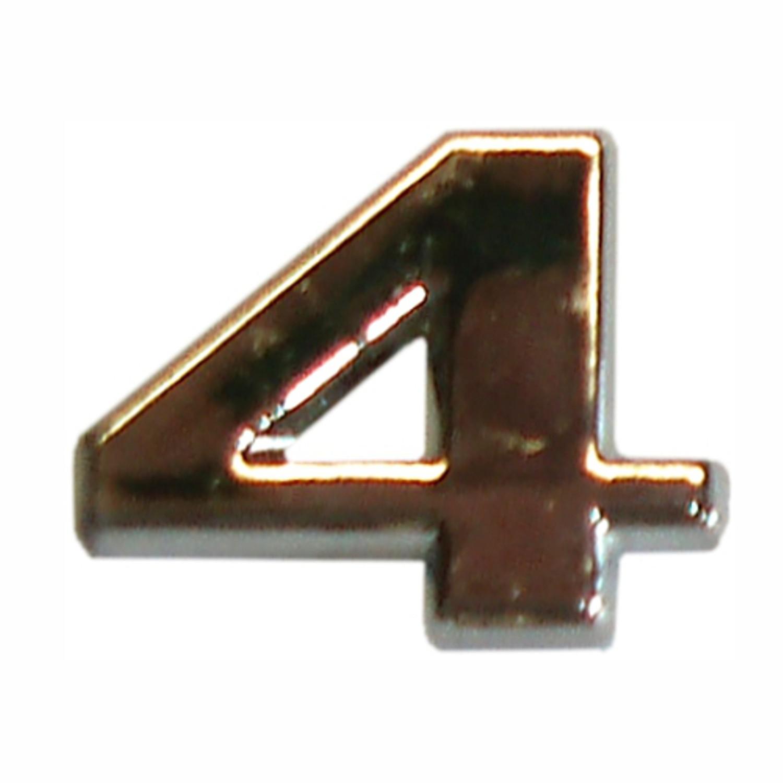 3D-relief-chrome-number 4 – Bild 1