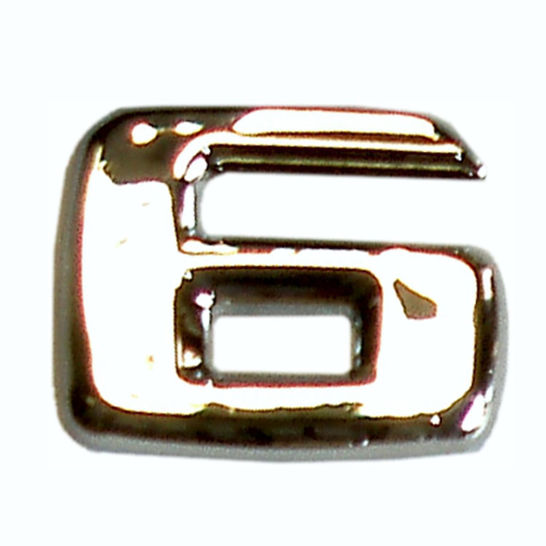 3D-relief-chrome-number 6 – Bild 1