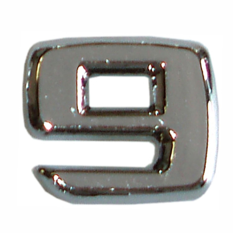 3D-relief-chrome-number 9 – Bild 1