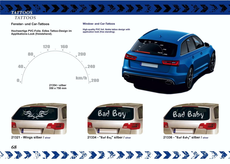 Fenster- und Car-Tattoo silber 2er-Set rechts/links je 200 x 325 mm – Bild 4