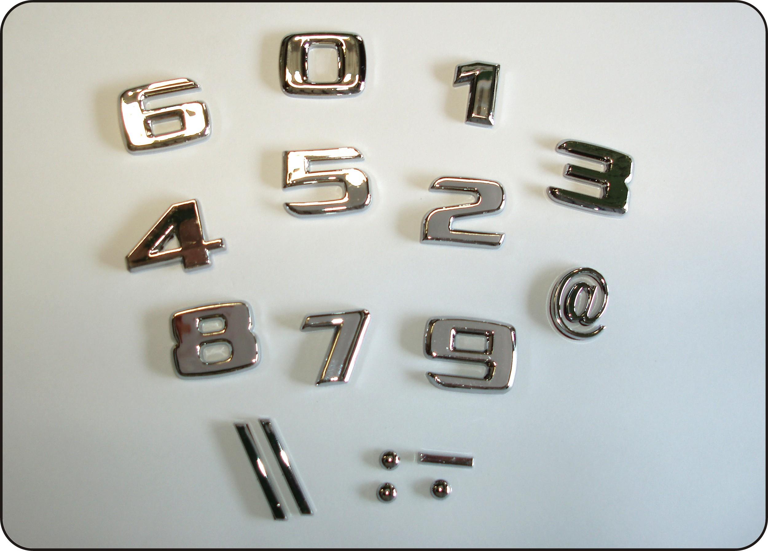 3D-Relief-Chrome-Sonderzeichen Schrägstriche – Bild 3