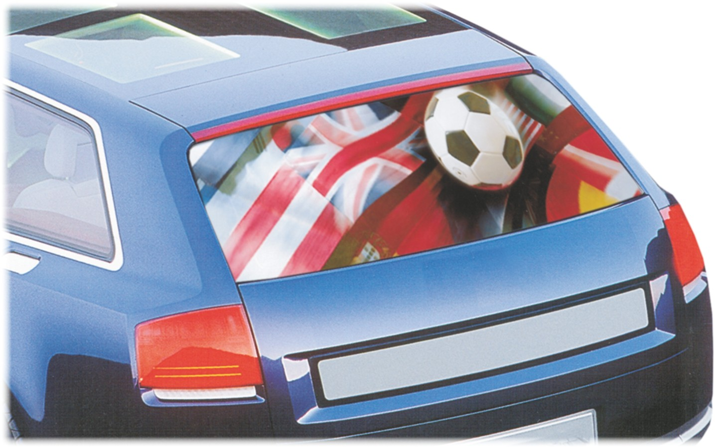 Car-window-film fun film football flags 75 x 140 cm – Bild 1