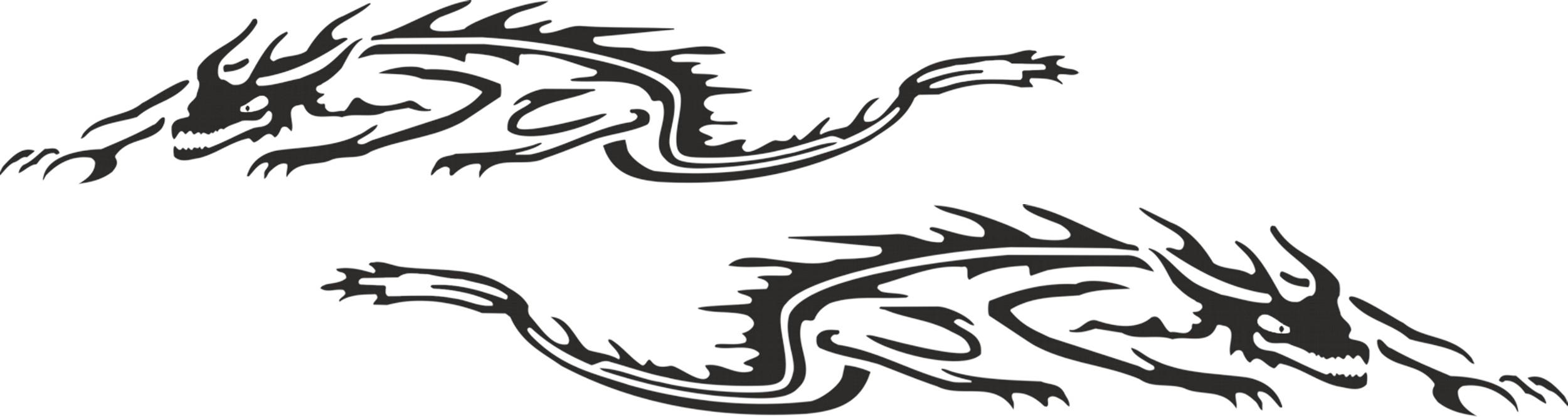 Car-tattoo tigerdragon black – Bild 1