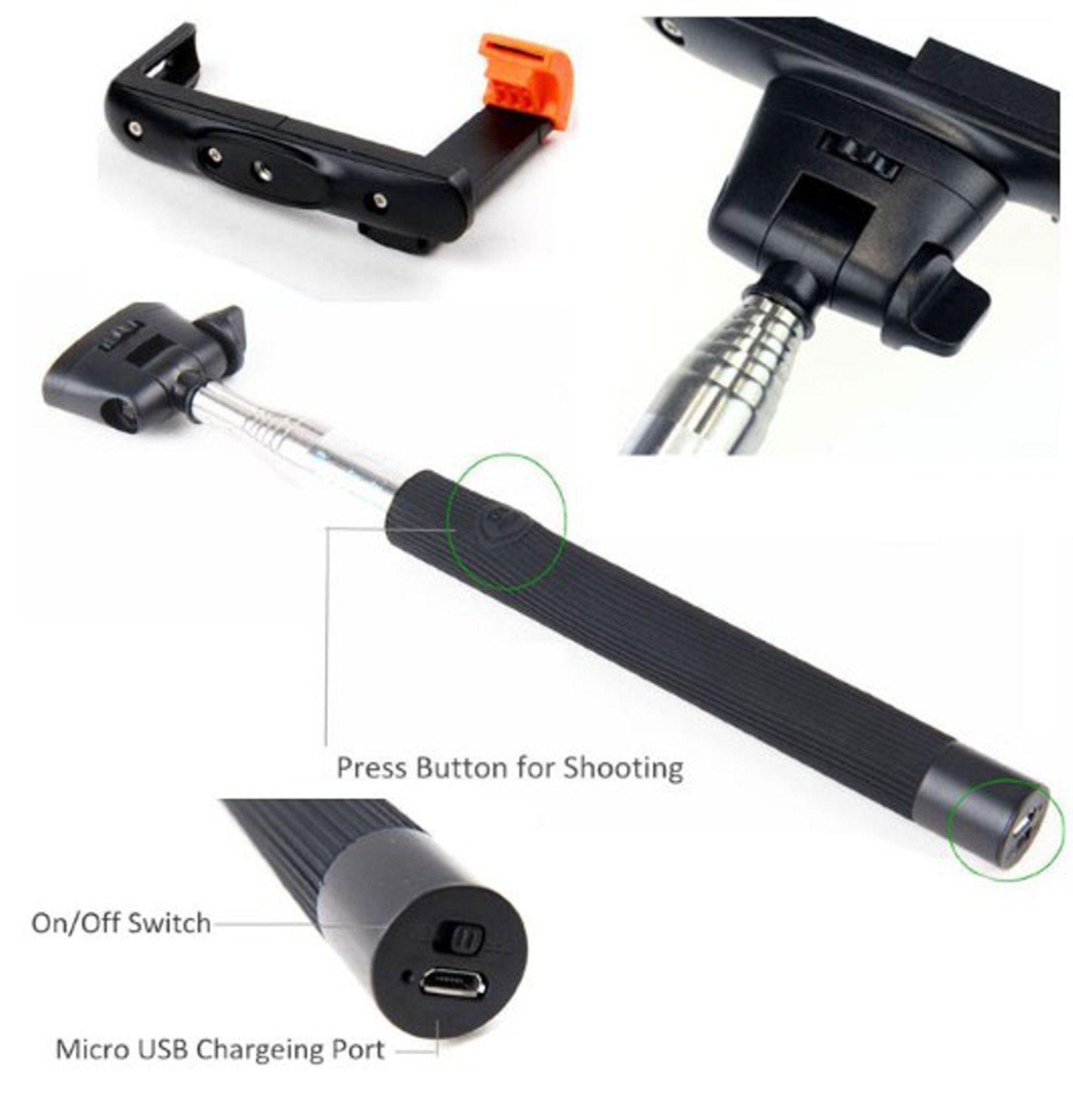 Selfie-Stick für Smartphones Universal weiß – Bild 2