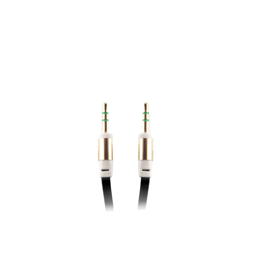 2GO AUX-Audiokabel 1,0 m  schwarz – Bild 1
