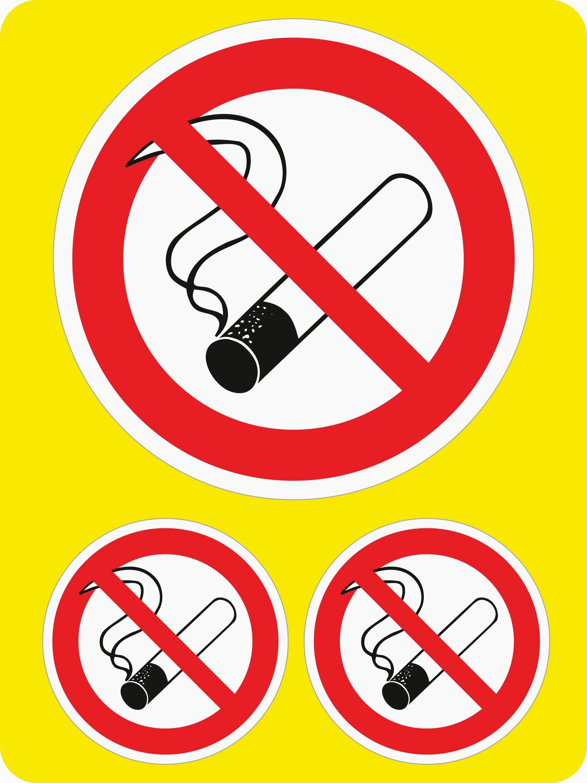 Autocollant Défense de fumer set de 3 145 x 110 mm – Bild 1