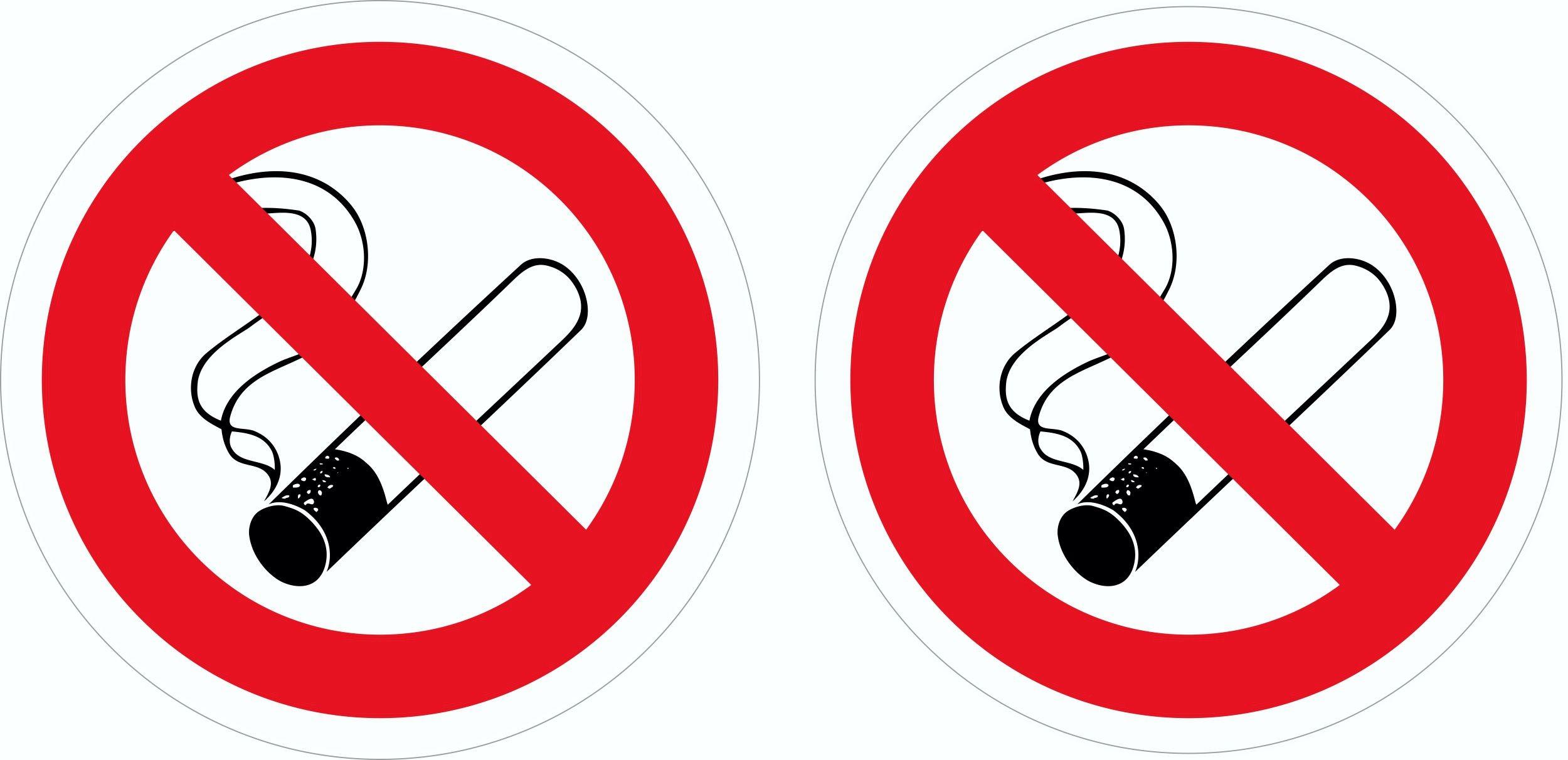Aufkleber Rauchen verboten 2er-Set 80 x 105 mm – Bild 1