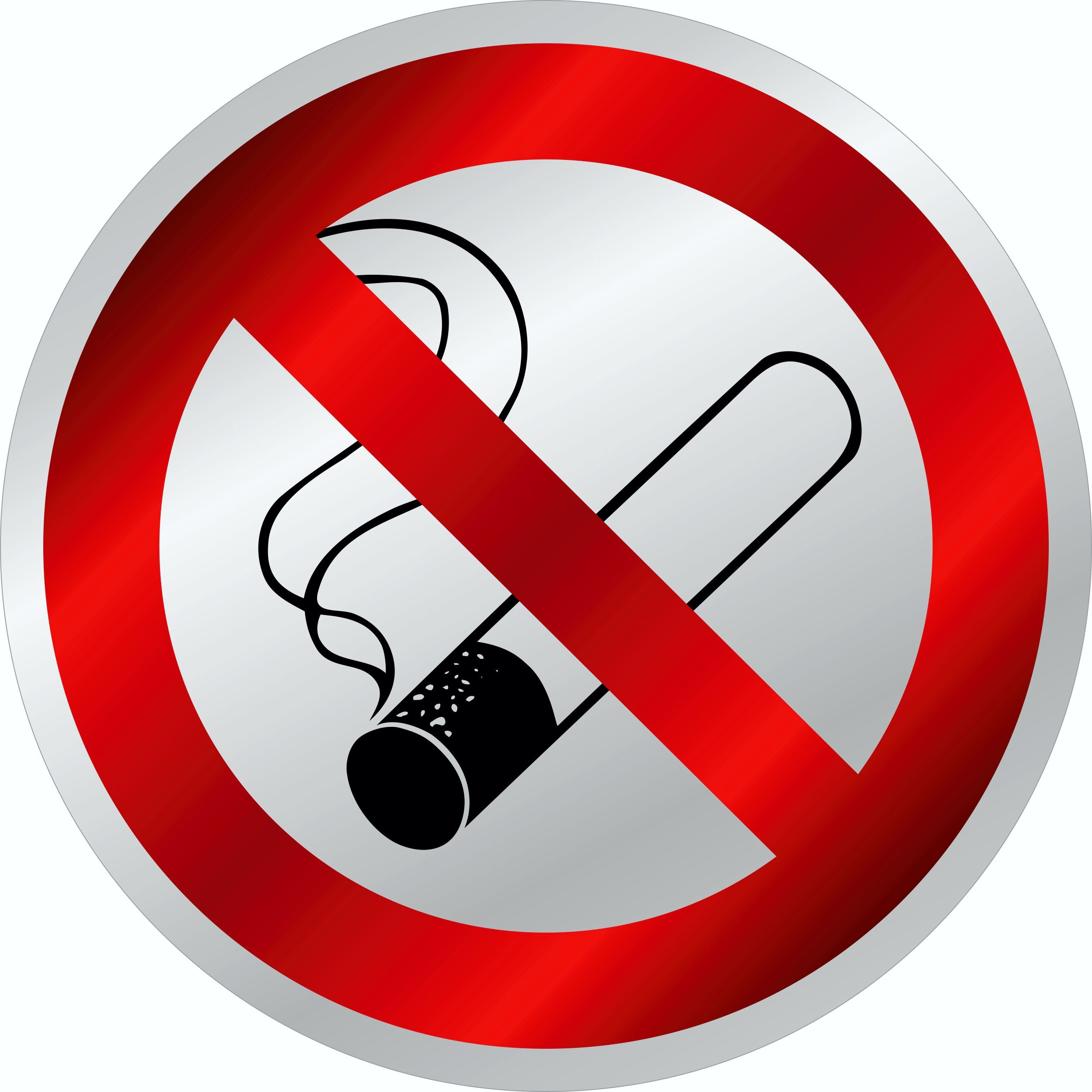 Aufkleber Rauchen verboten reflektierend 80 x 80 mm – Bild 1