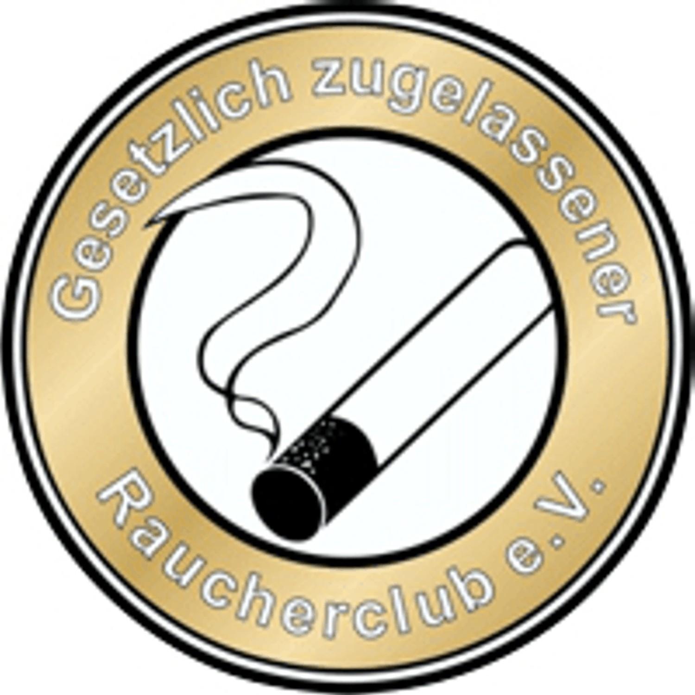 Adhesivo Gesetzlich zugelassener Raucherclub e.V. 90 x 70 mm