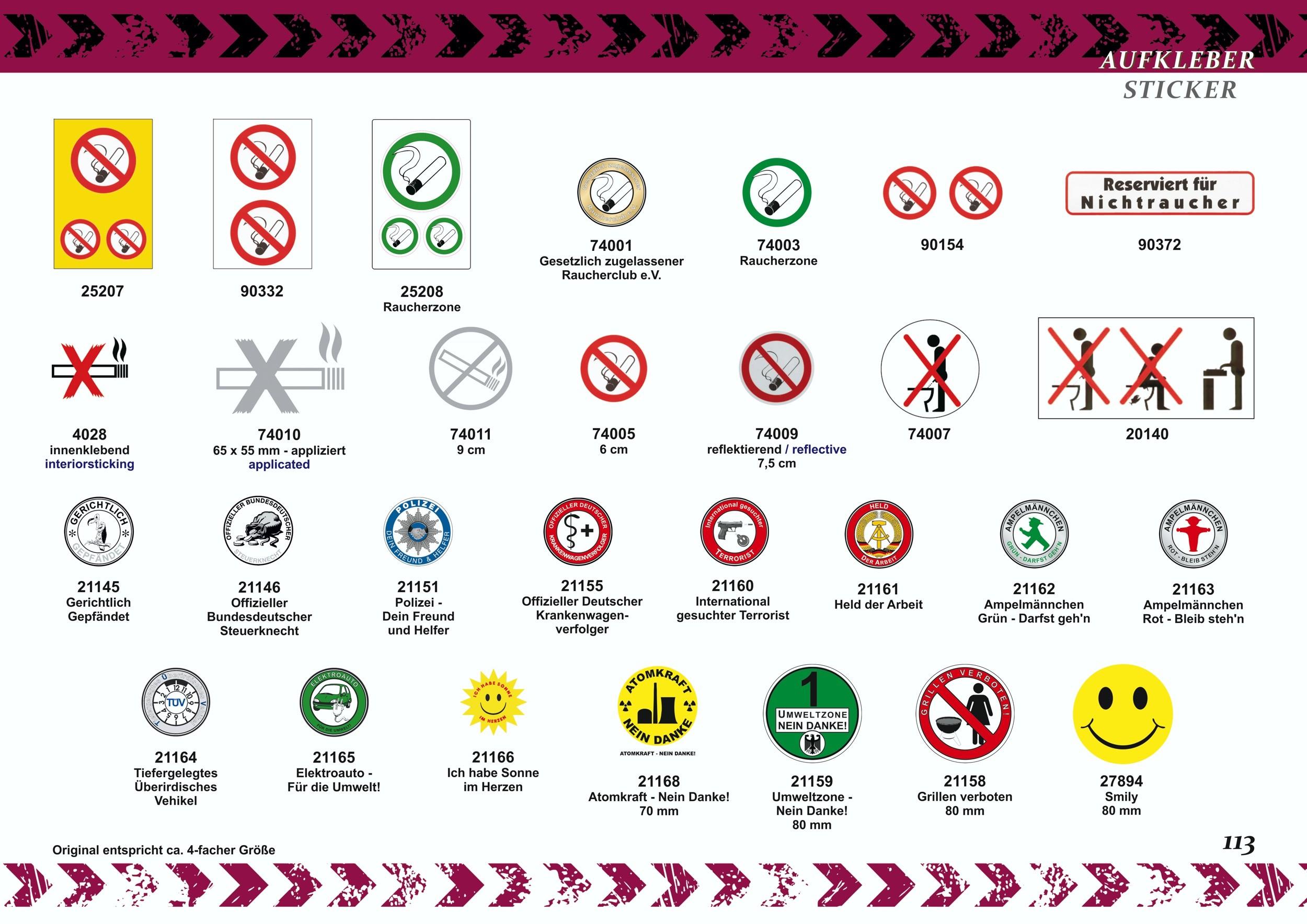 Autocollant Reserviert für Nichtraucher blanc 150 x 40 mm – Bild 4