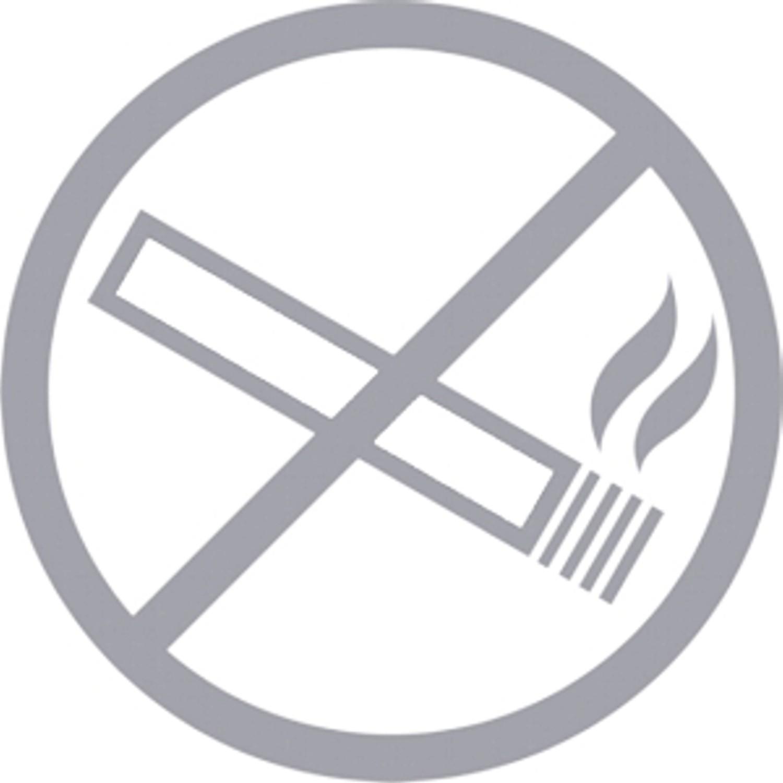 Aufkleber Rauchverbot in öffentlichen Räumen silber Ø 90 mm – Bild 1
