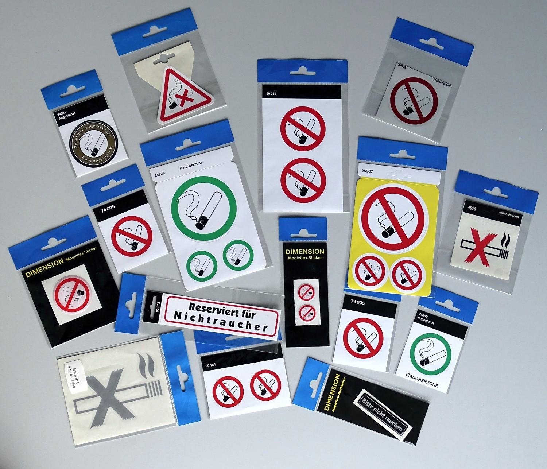 Aufkleber Rauchverbot in öffentlichen Räumen silber Ø 90 mm – Bild 2