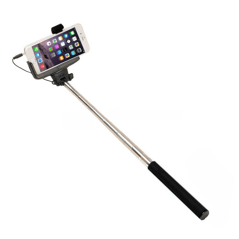 SOLUTIONS2GO Selfie-Stick for Smartphones universal black – Bild 3