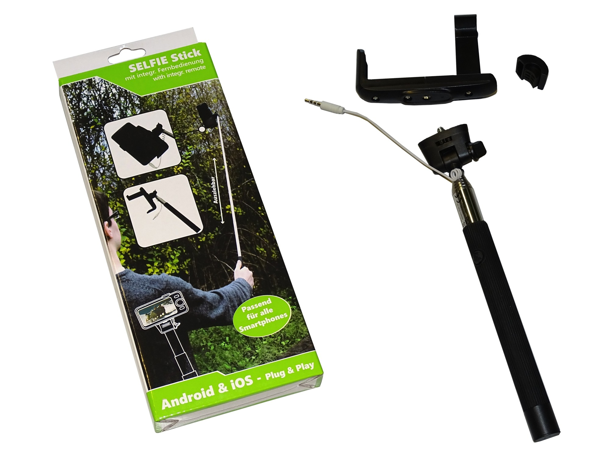 SOLUTIONS2GO Selfie-Stick for Smartphones universal black – Bild 4