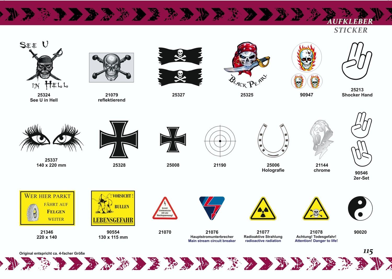 Aufkleber Fadenkreuz transparent Ø 80 mm – Bild 5