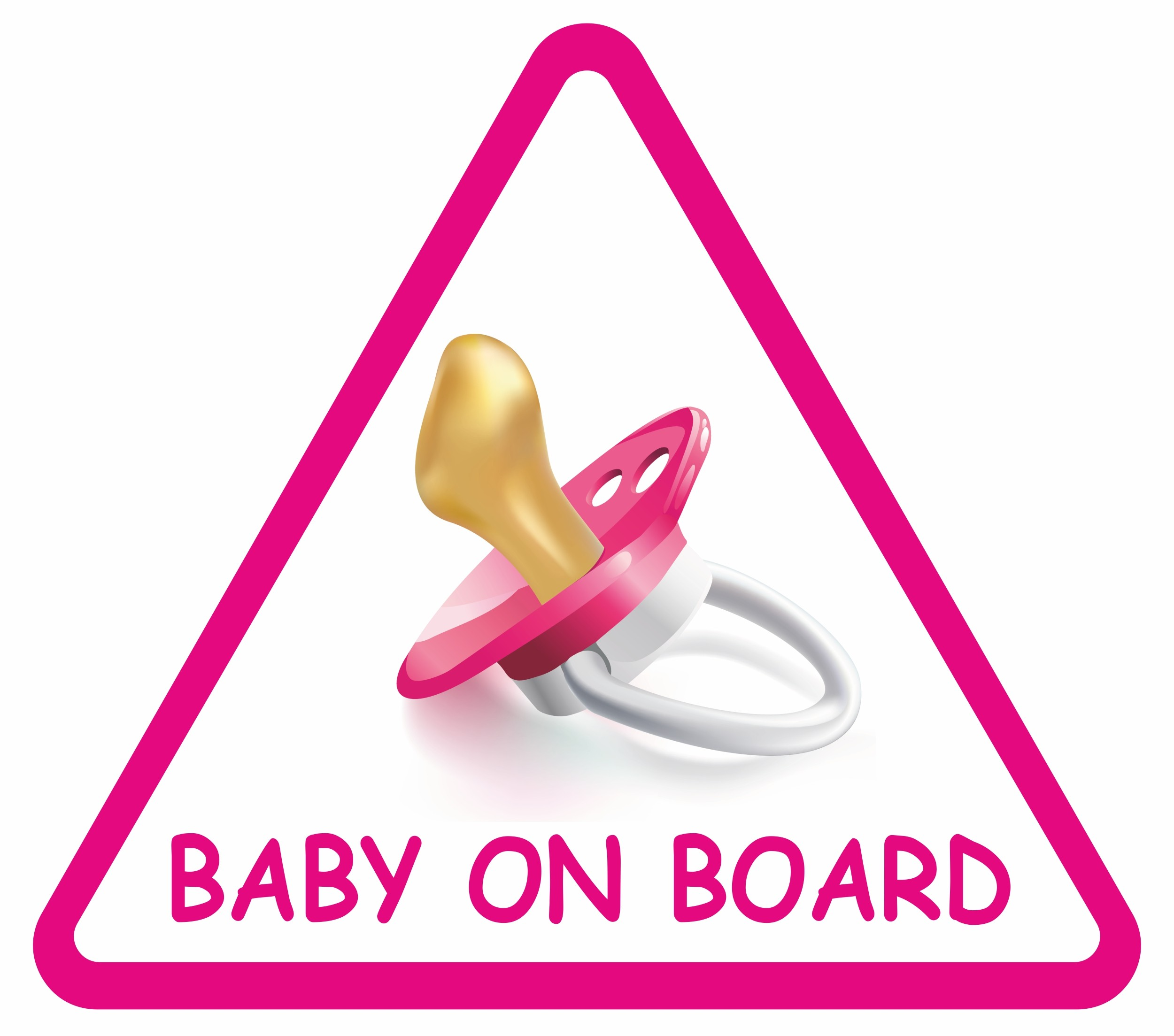 Autocollant Baby an Bord triangulaire 120 x 135 mm – Bild 1